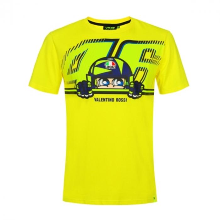 Tričko VR46 Valentino Rossi CUPOLINO žlté