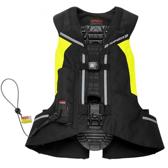 Vesta s airbagom SPIDI Air DPS CE čierno-fluo žltá