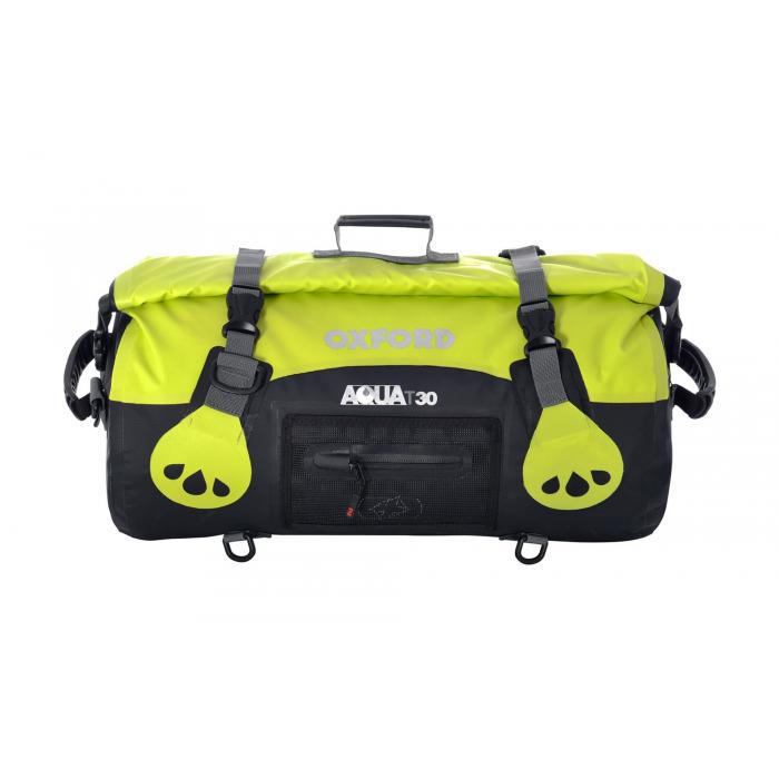 Vodotesný vak Oxford Aqua30 Roll Bag čierno-fluo žltý