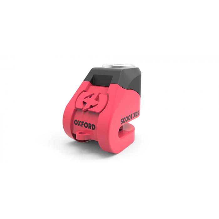 Zámok kotúčové brzdy Oxford Scoot XD5 ružovo-čierny
